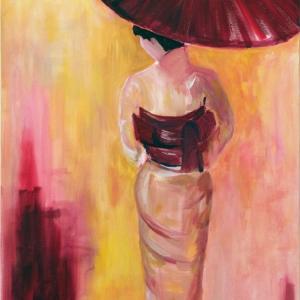 Geisha mit Schirm
