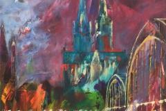 Köln Dom bund 60 x 60 cm
