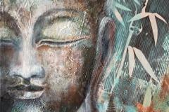 Buddha, Collage 40x40 cm verkauft