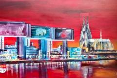 Köln-Kranhäuser-Collage-120-x-70-cm-verkauft