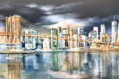 New-York-Brooklyn-Bridge-Collage-120-x-70-cm-VERKAUFT